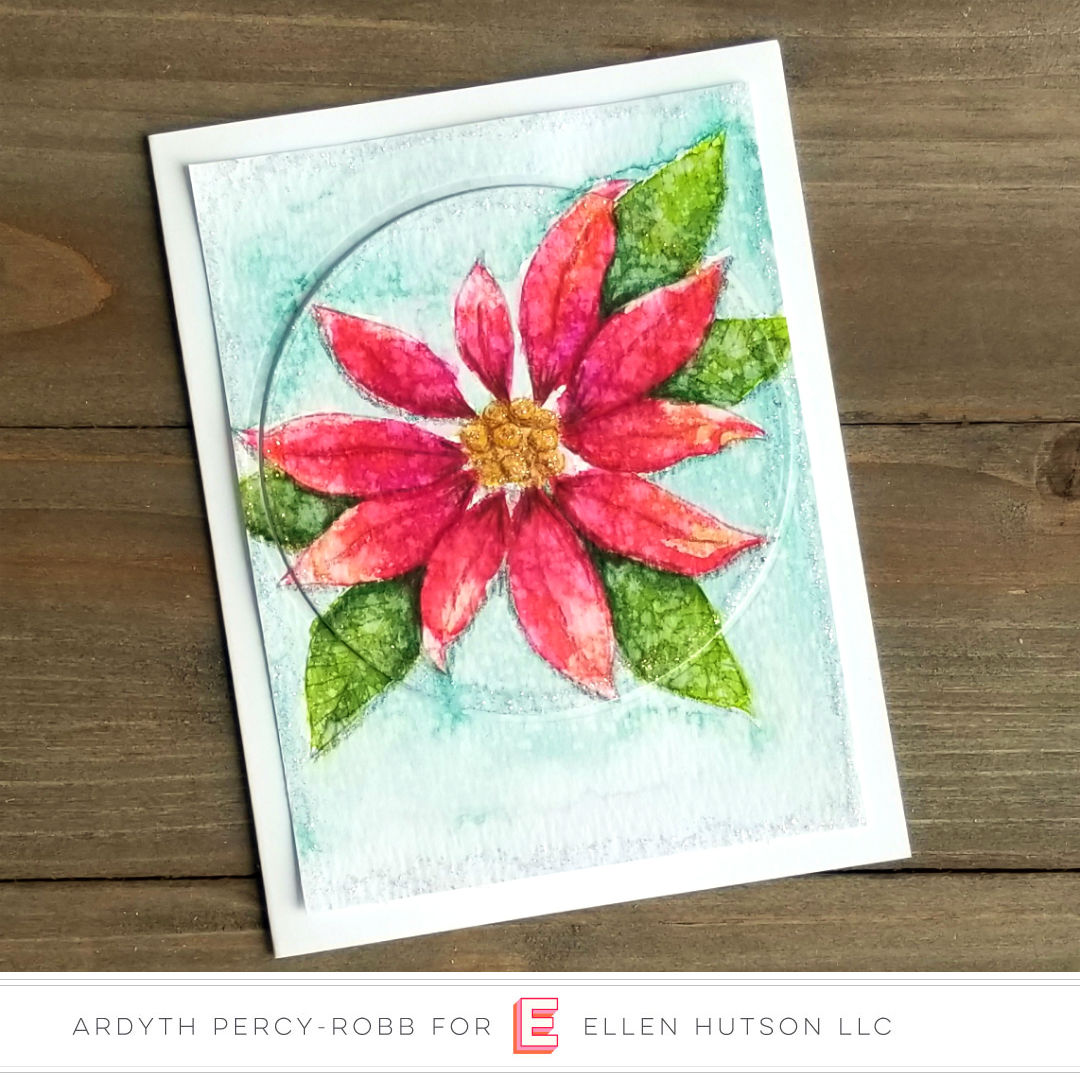 Essentials by Ellen Mondo Poinsettia card by Ardyth Percy-Robb