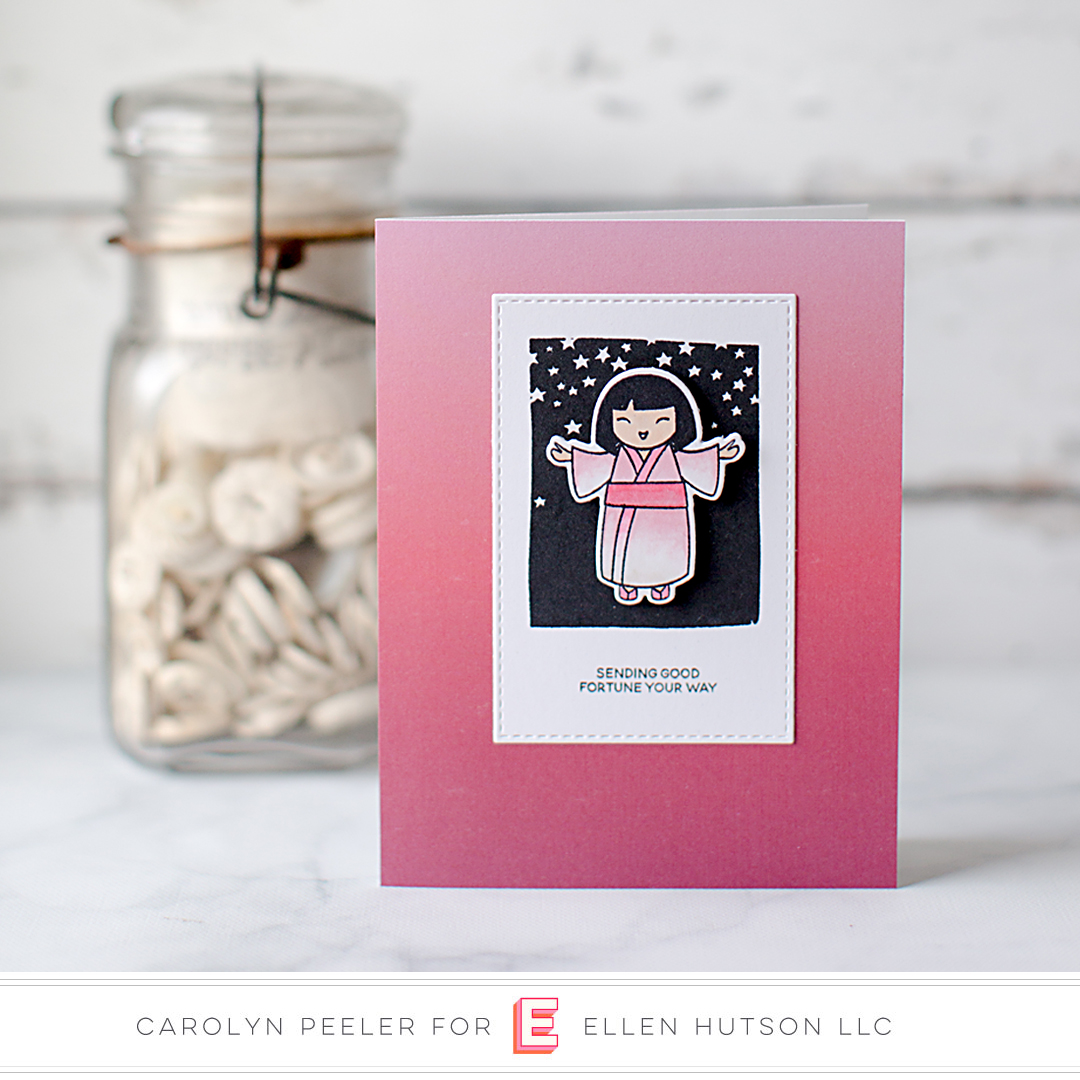 Essentials by Ellen So Matcha card by Carolyn Peeler