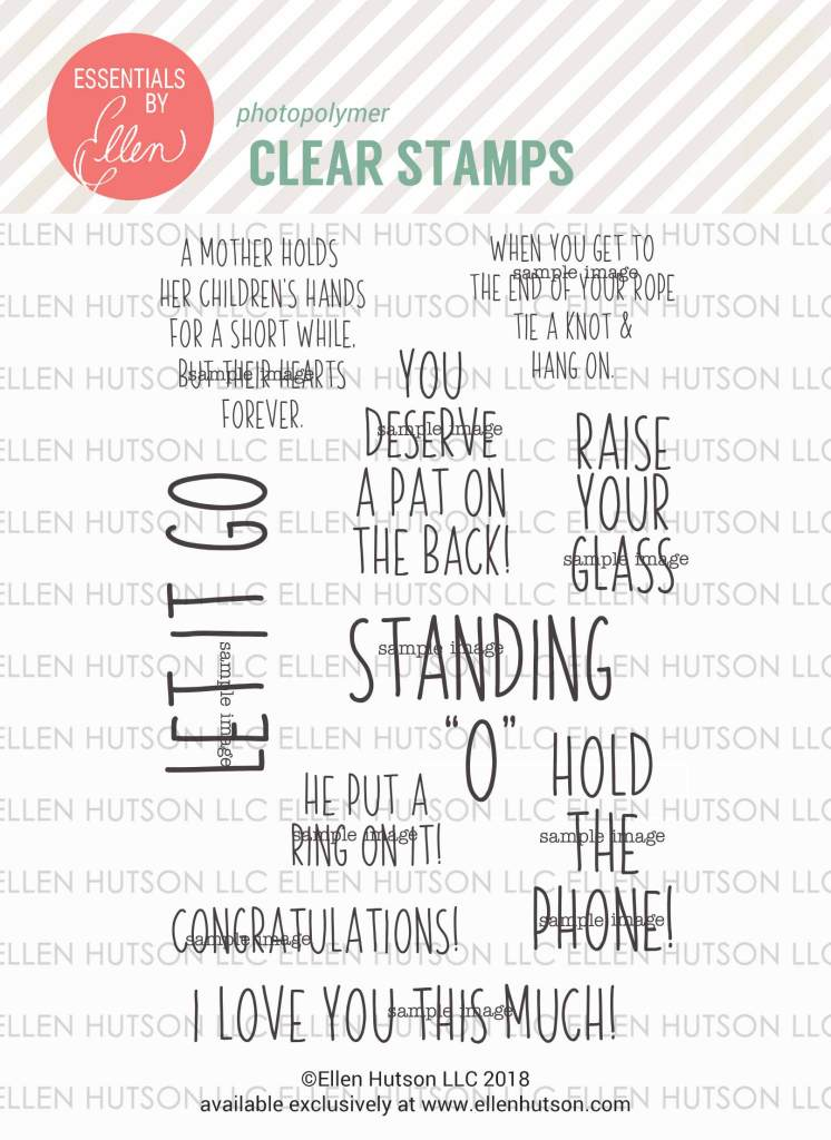 Essentials by Ellen Hang On stamps