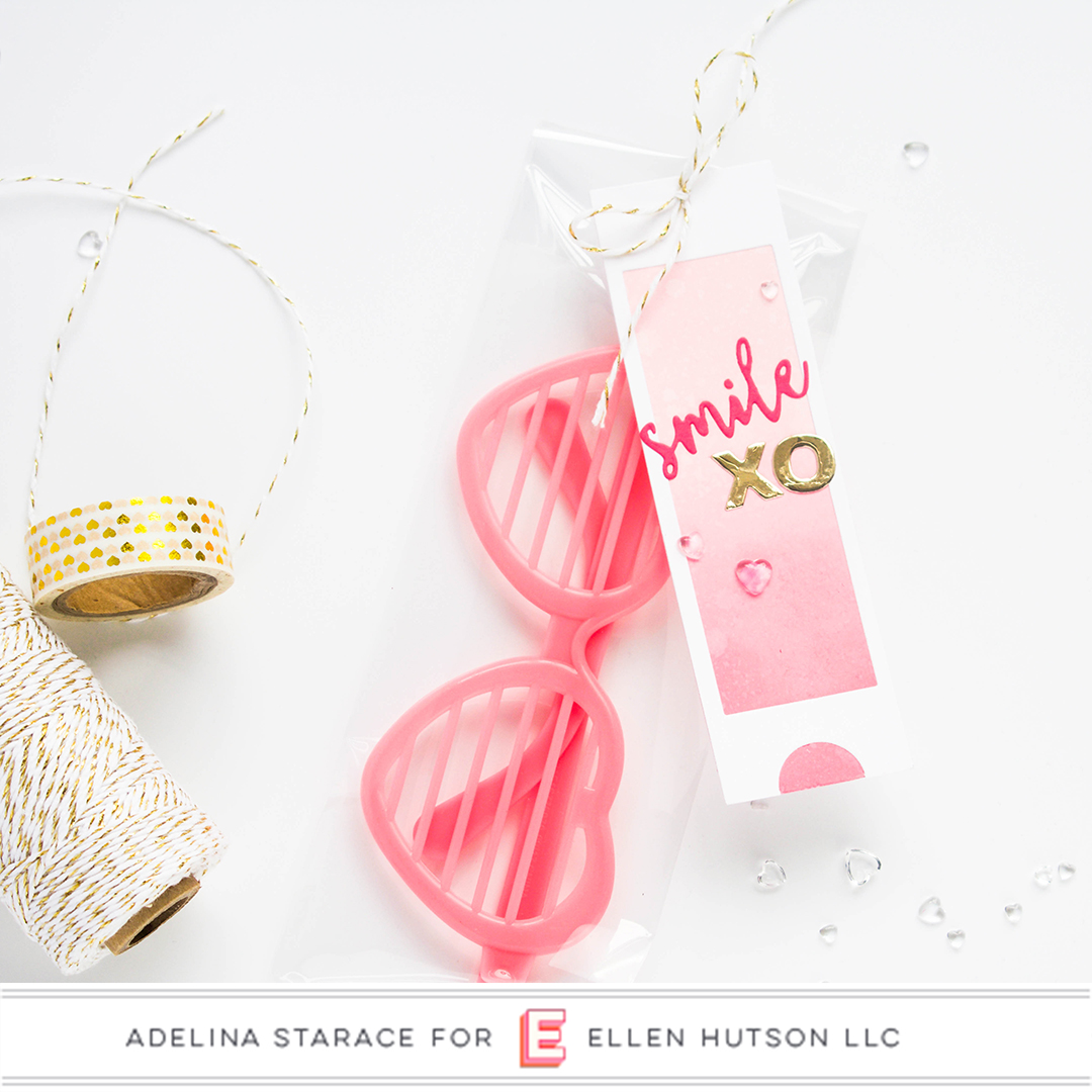 Essentials by Ellen Confetti Kisses card by Adelina Starace