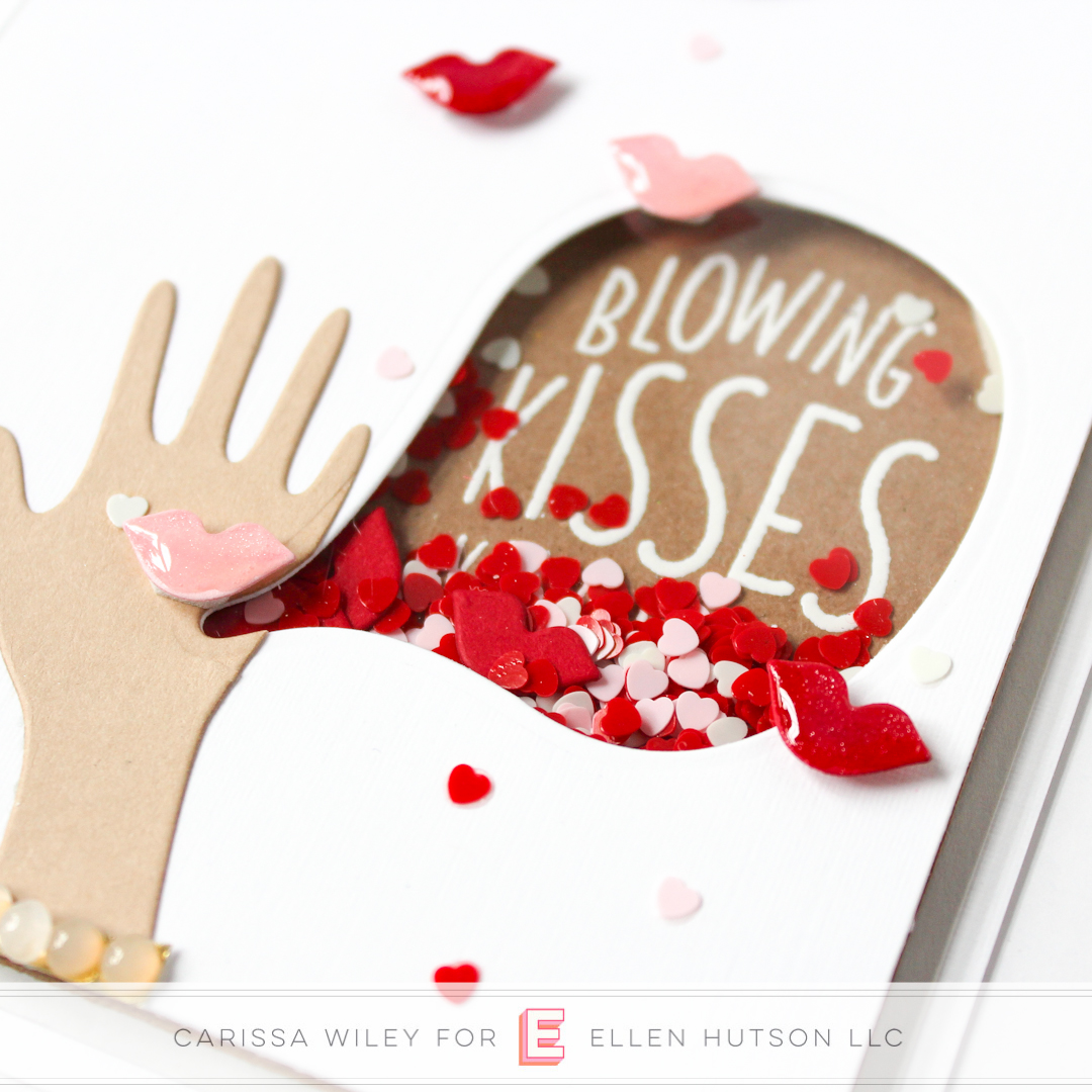 Essentials by Ellen Embellishments in Shaker Cards by Carissa Wiley