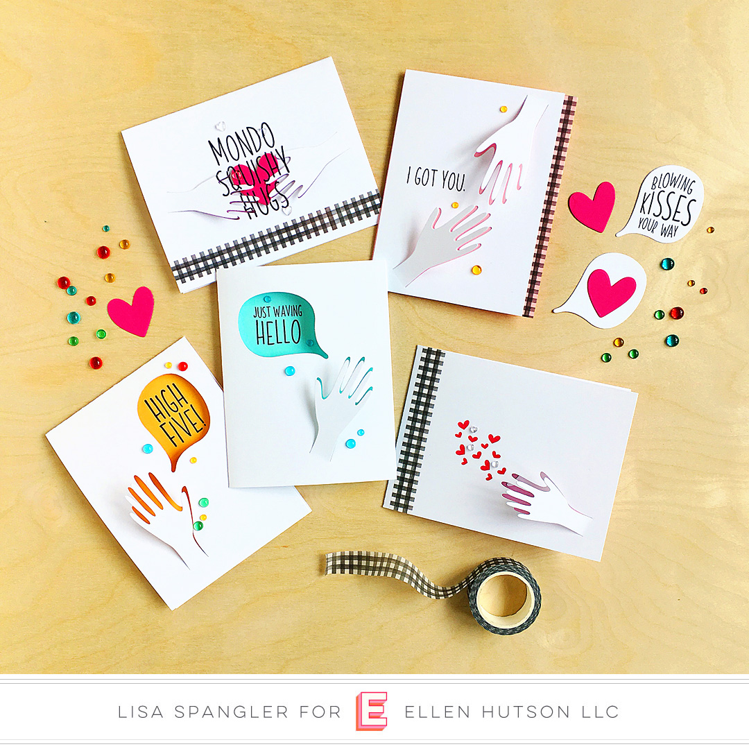 Essentials by Ellen Hang On & Hands cards by Lisa Spangler