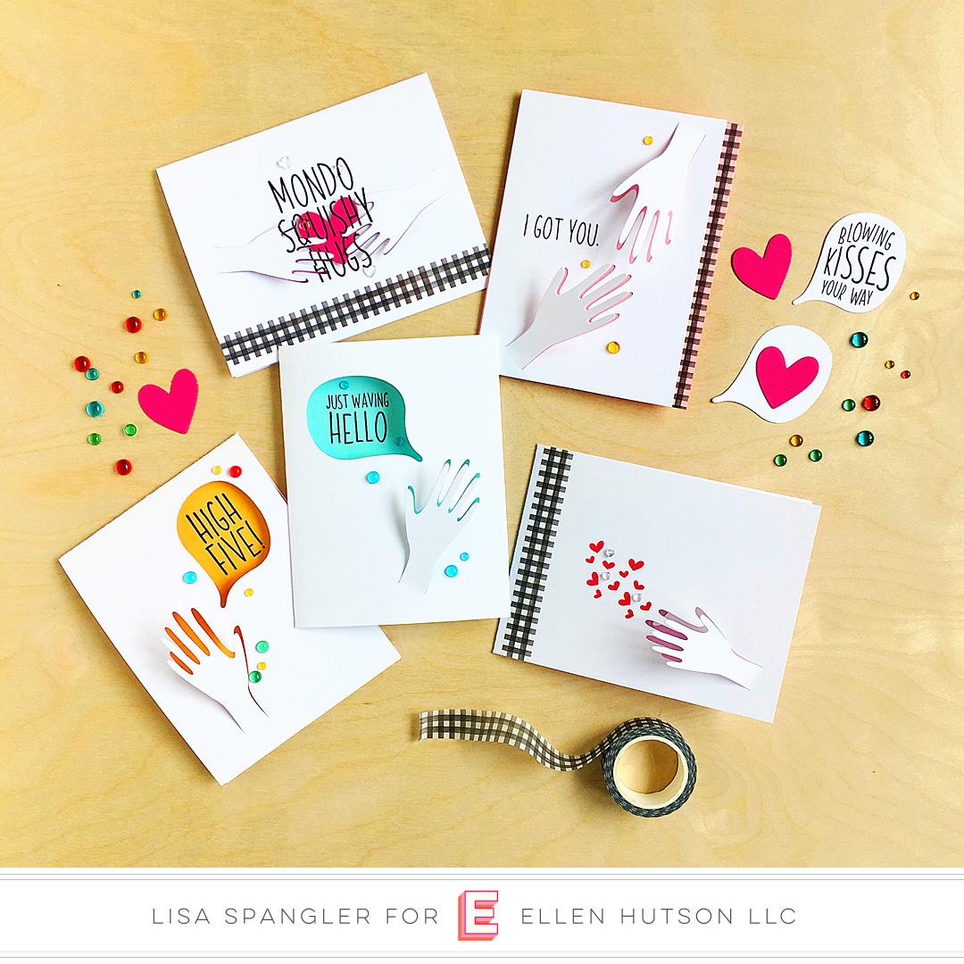 Essentials by Ellen Hang On & Hands cards by Lisa Spangler