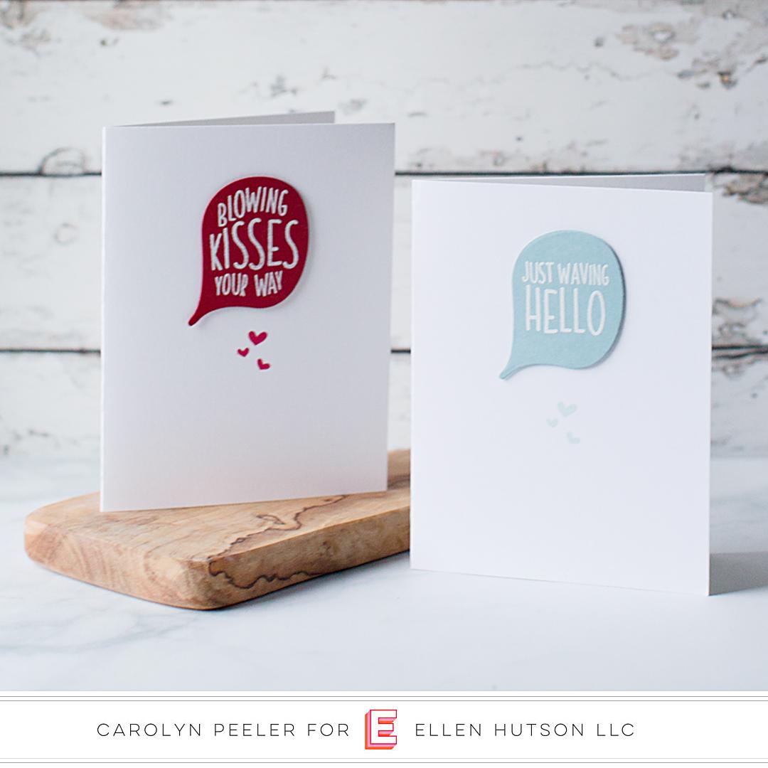 Essentials by Ellen High Five cards by Carolyn Peeler