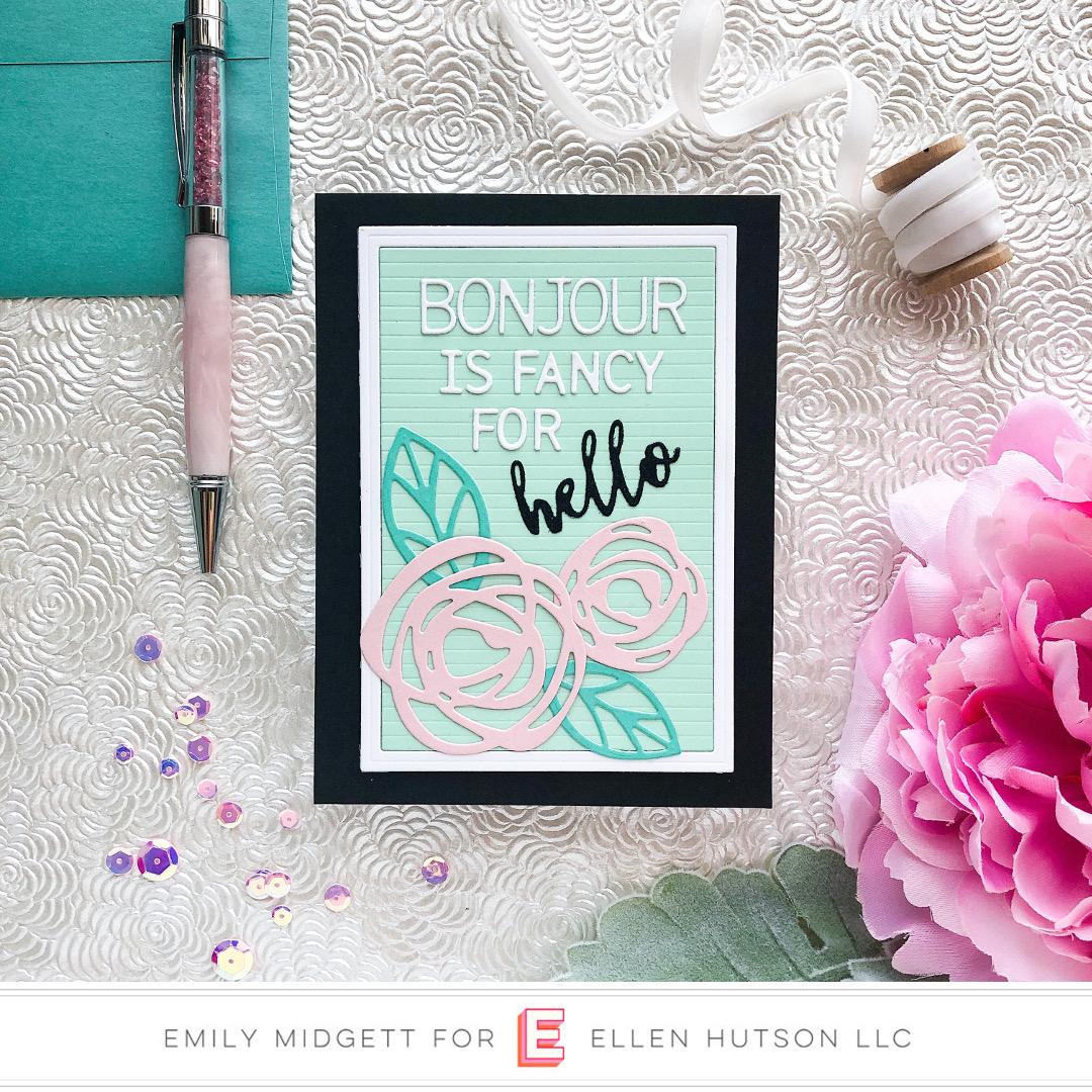 Essentials by Ellen Letterboard card by Emily Midgett