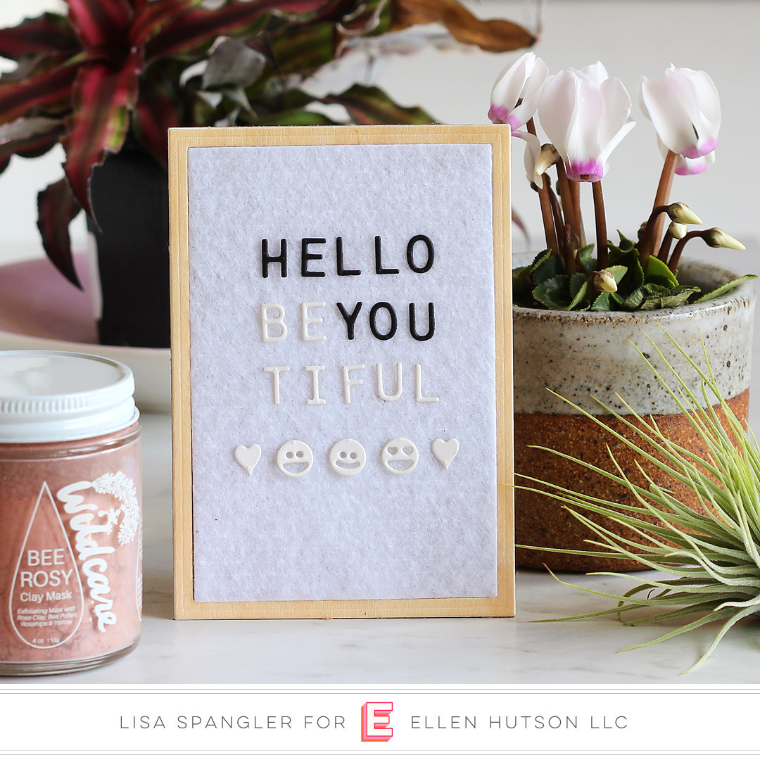 Essentials by Ellen Letterboard card by Lisa Spangler