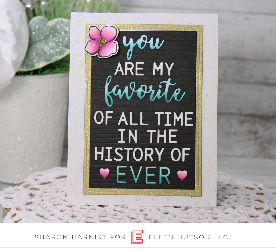 Essentials by Ellen Letterboard card by Sharon Harnist