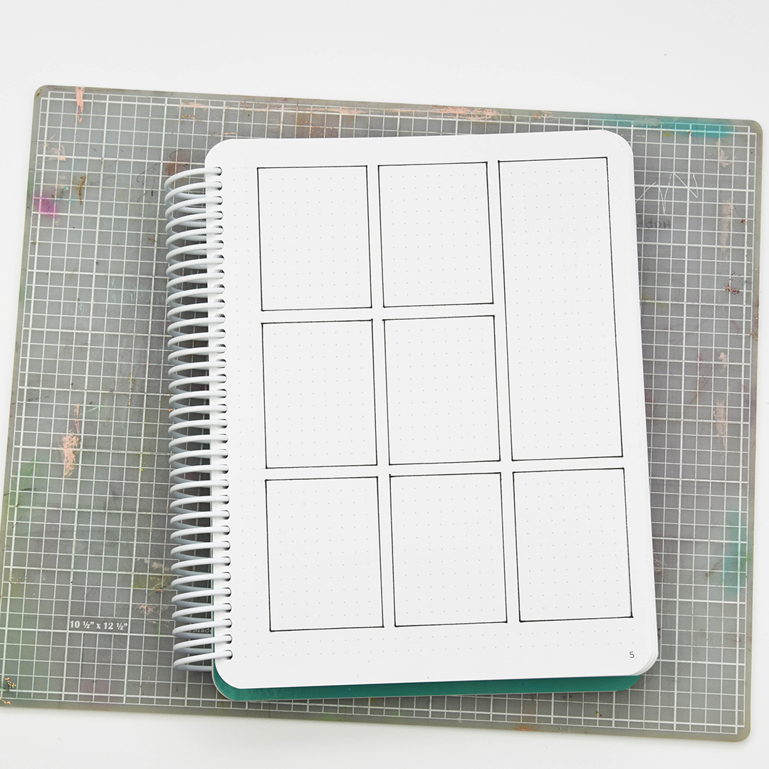 Divided planner page