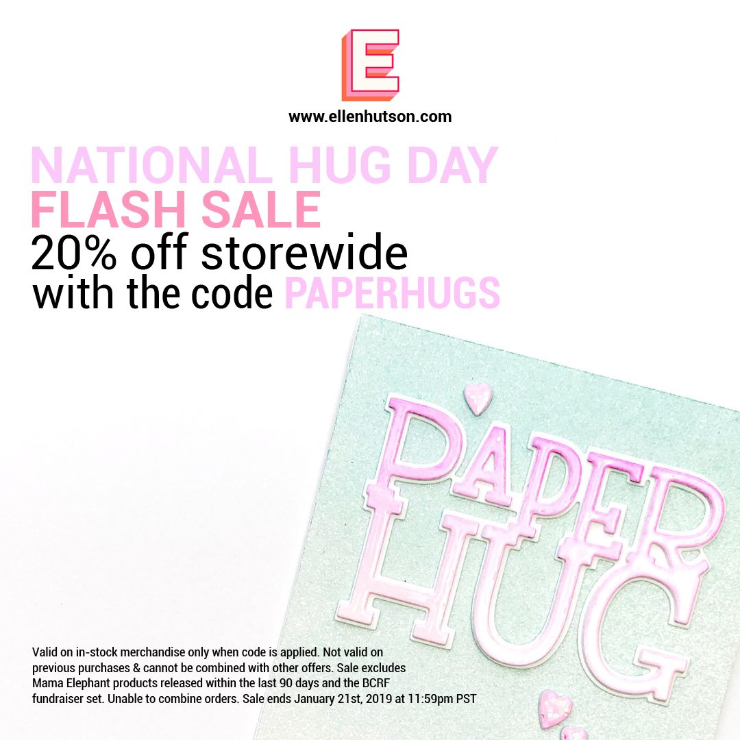 National Hug Day Sale at Ellen Hutson