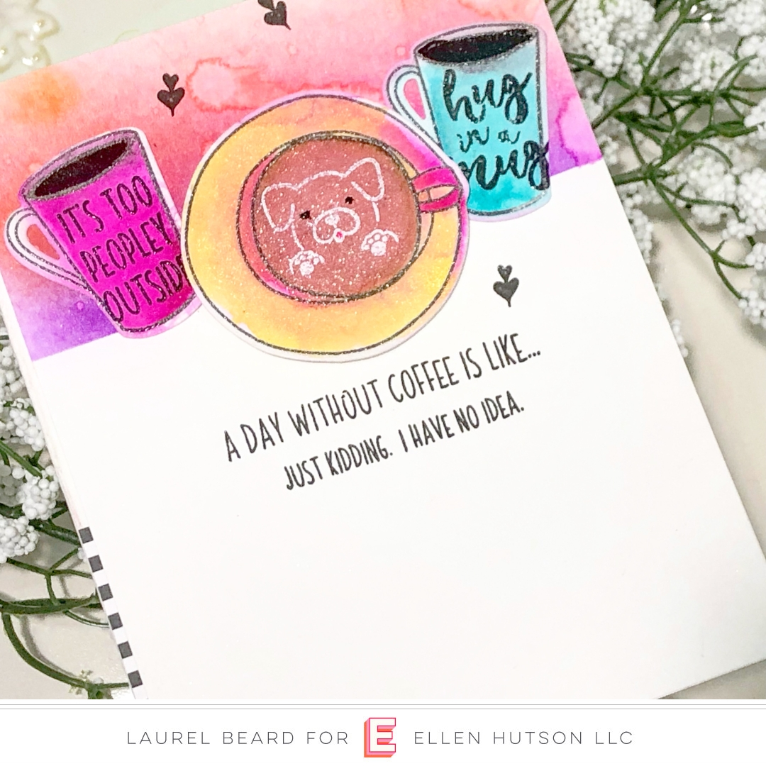 Essentials by Ellen Latte Love card by Laurel Beard