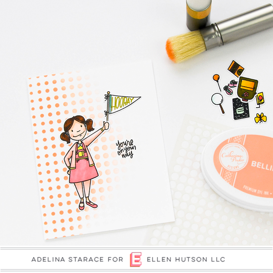 Essentials by Ellen Little Lady card by Adelina Starace