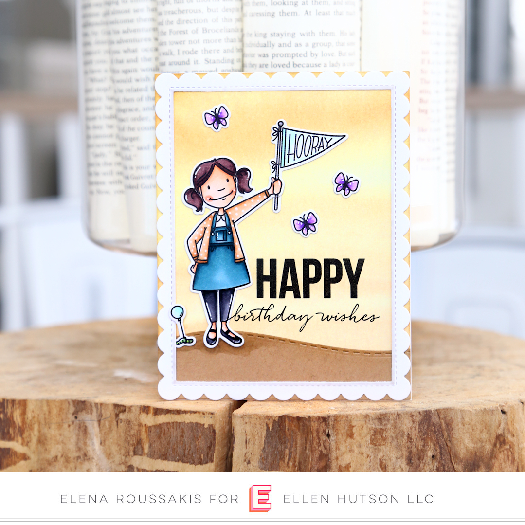 Essentials by Ellen Little Lady card by Elena Roussakis