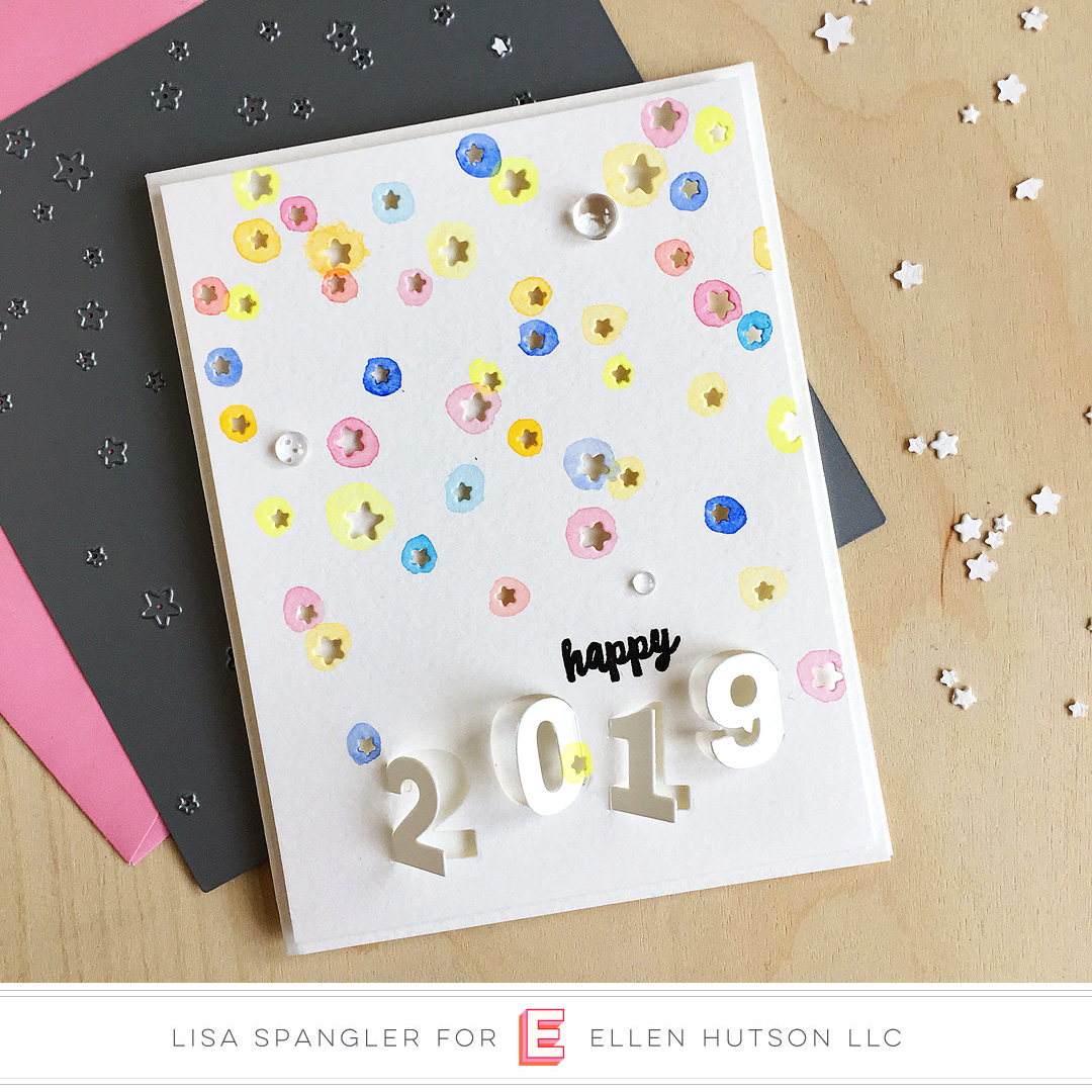 Essentials by Ellen Starry Night card by Lisa Spangler