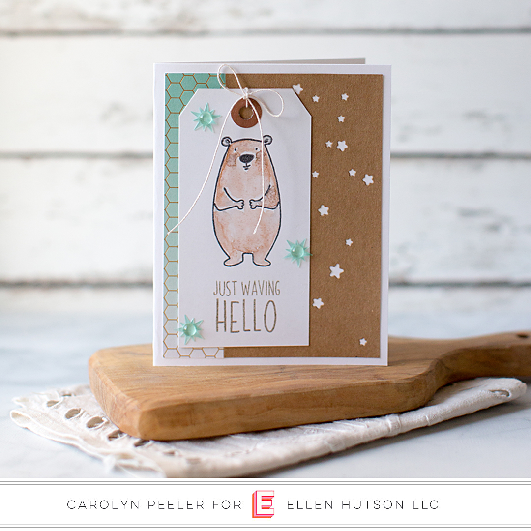 Essentials by Ellen Starry Night card by Carolyn Peeler