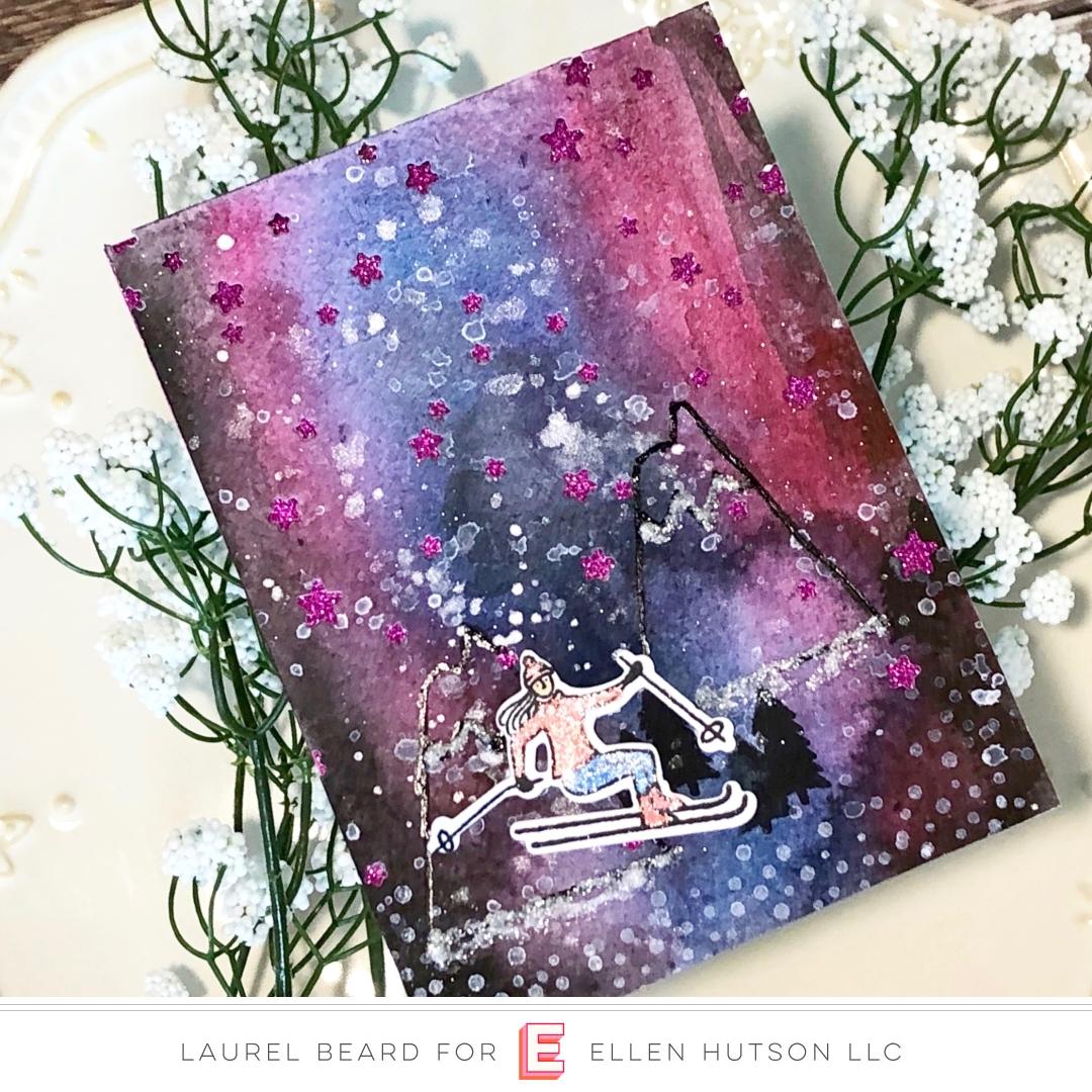 Essentials by Ellen Starry Night card by Laurel Beard