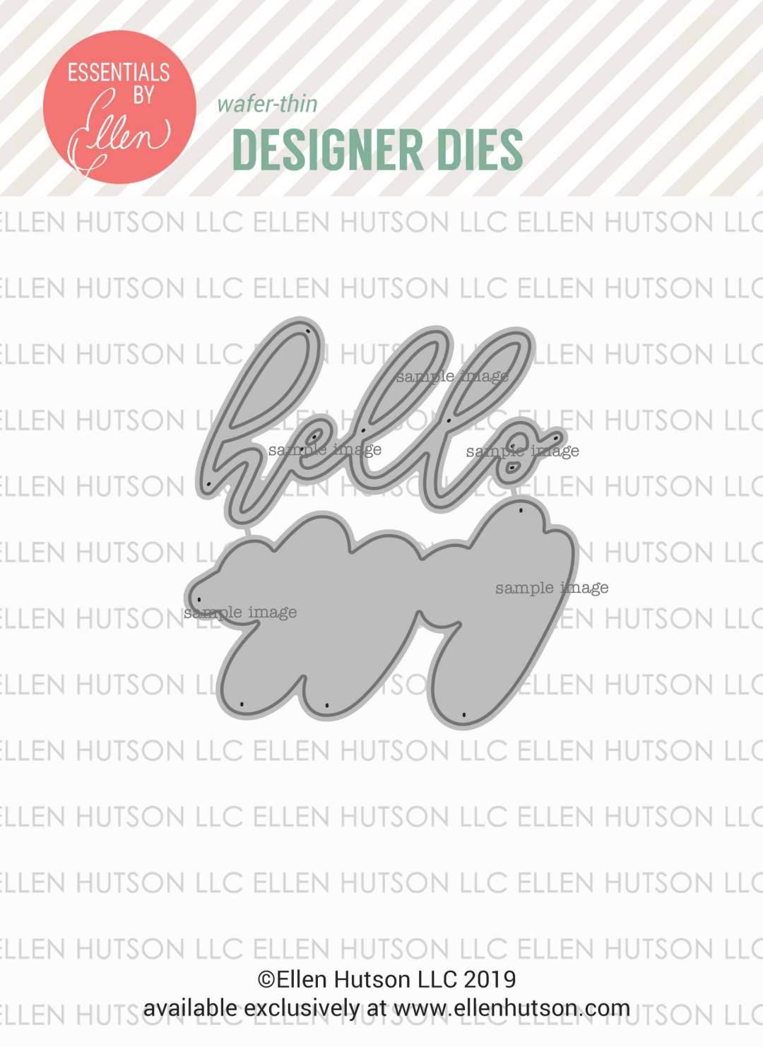 Essentials by Ellen Big Scripty Hello