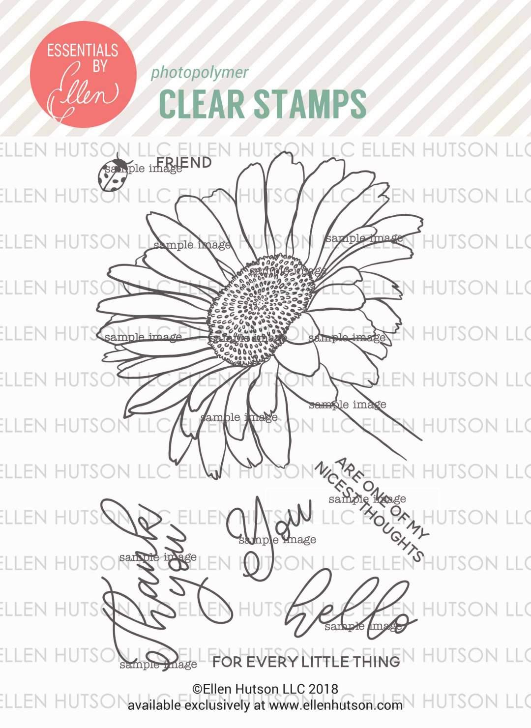 Essentials by Ellen Mondo Gerbera Daisy stamps