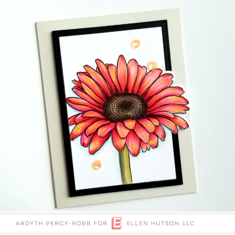 Essentials by Ellen Mondo Gerbera Daisy card by Ardyth Percy-Robb