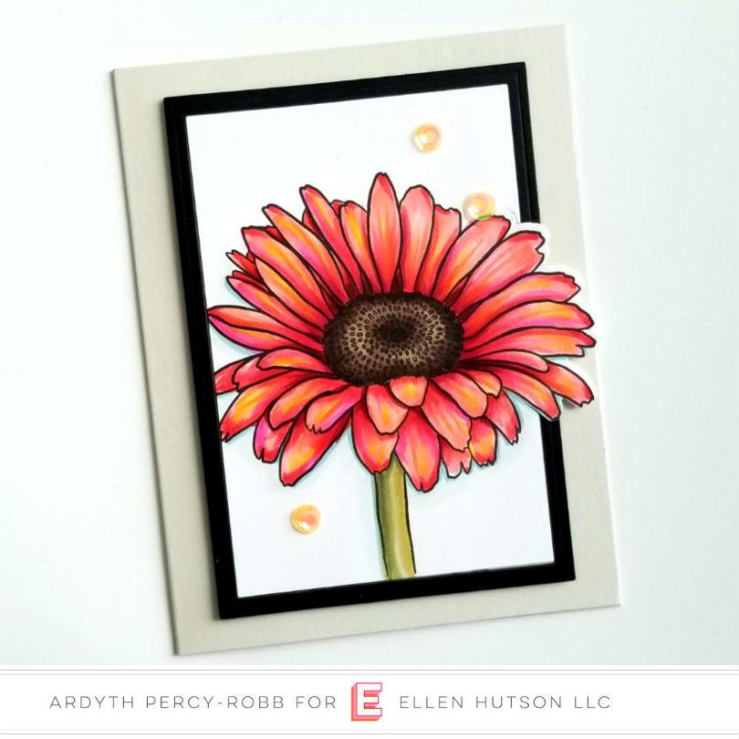 Essentials by Ellen Mondo Gerbera Daisy card by Ardyth Percy-Robb