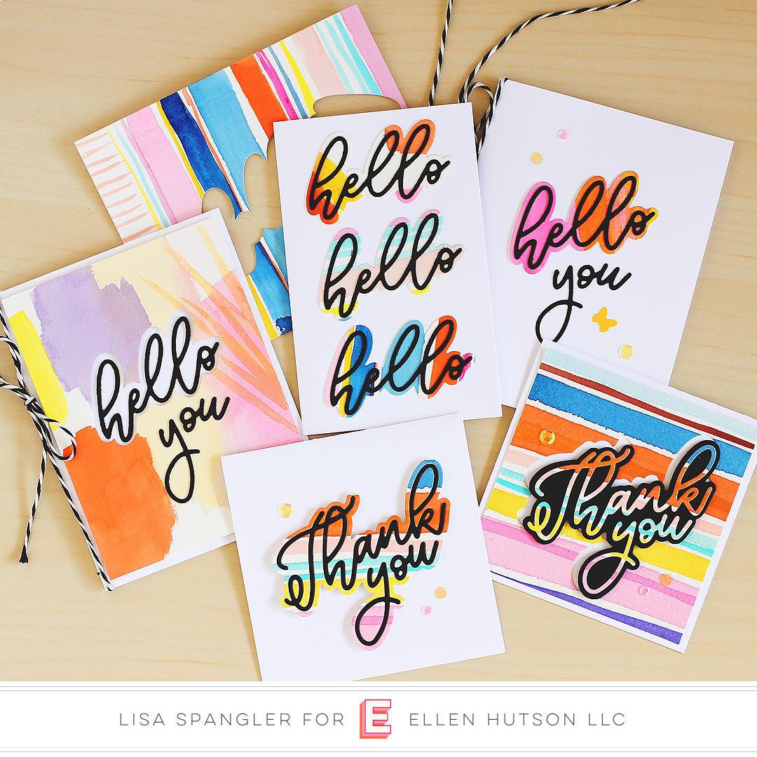 Essentials by Ellen Scripty cards by Lisa Spangler