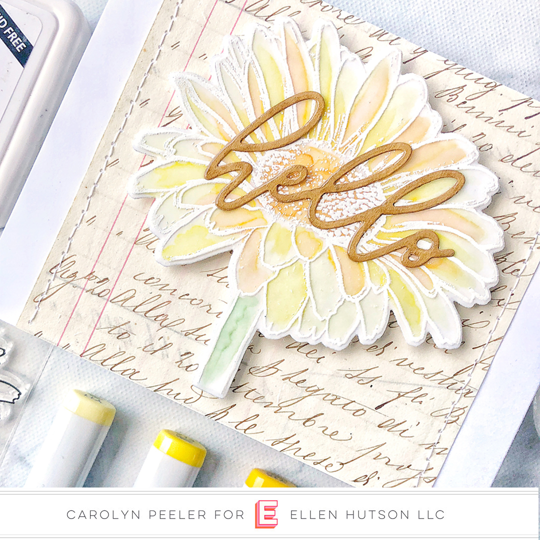 Essentials by Ellen Scripty Hello card by Carolyn Peeler