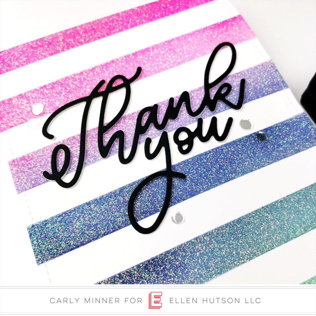Essentials by Ellen Scripty Thank You card by Carly Tee Minner