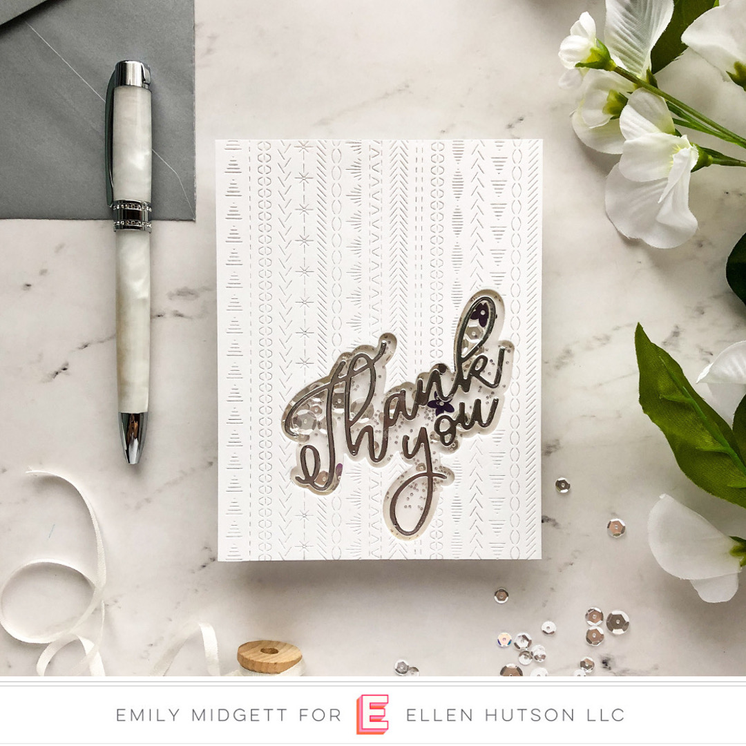 Essentials by Ellen Scripty Thank You card by Emily Midgett