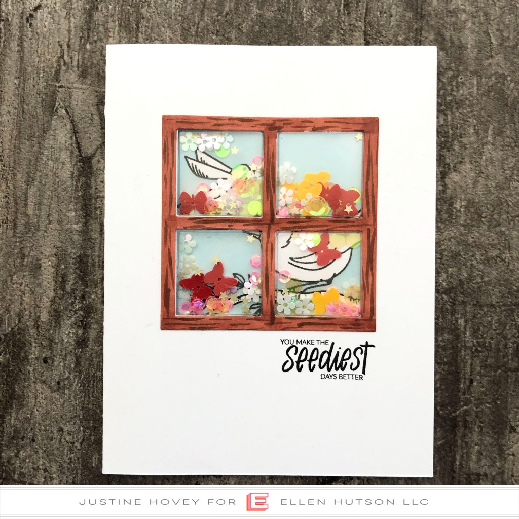 Creating A Window Shaker Card with Essentials by Ellen