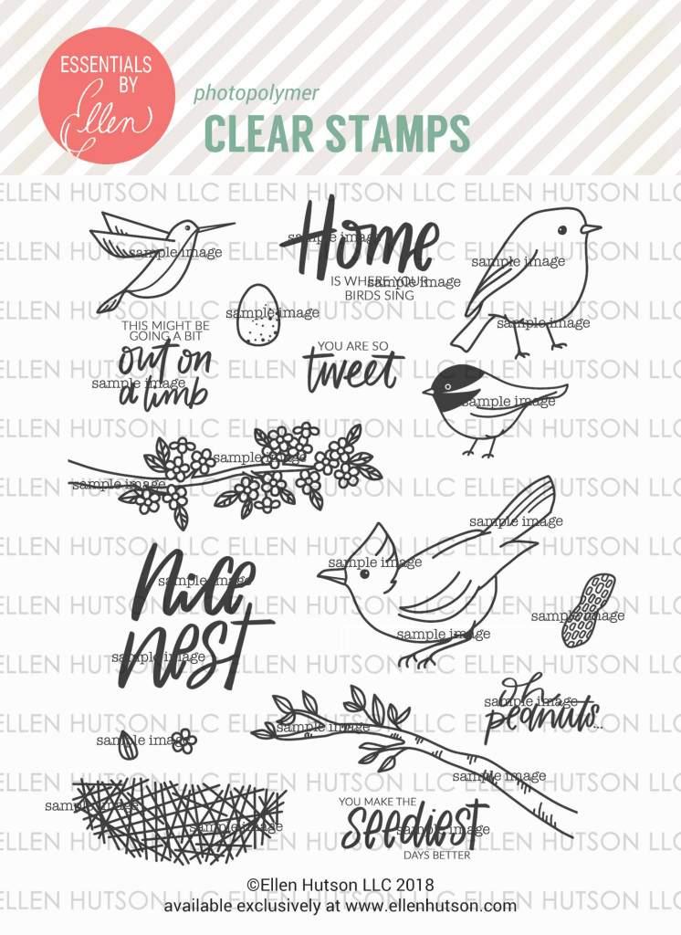 Essentials by Ellen Backyard Bird Friends stamps
