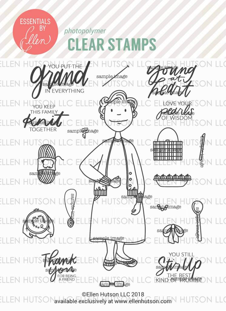 Essentials by Ellen Grand Lady clear stamps
