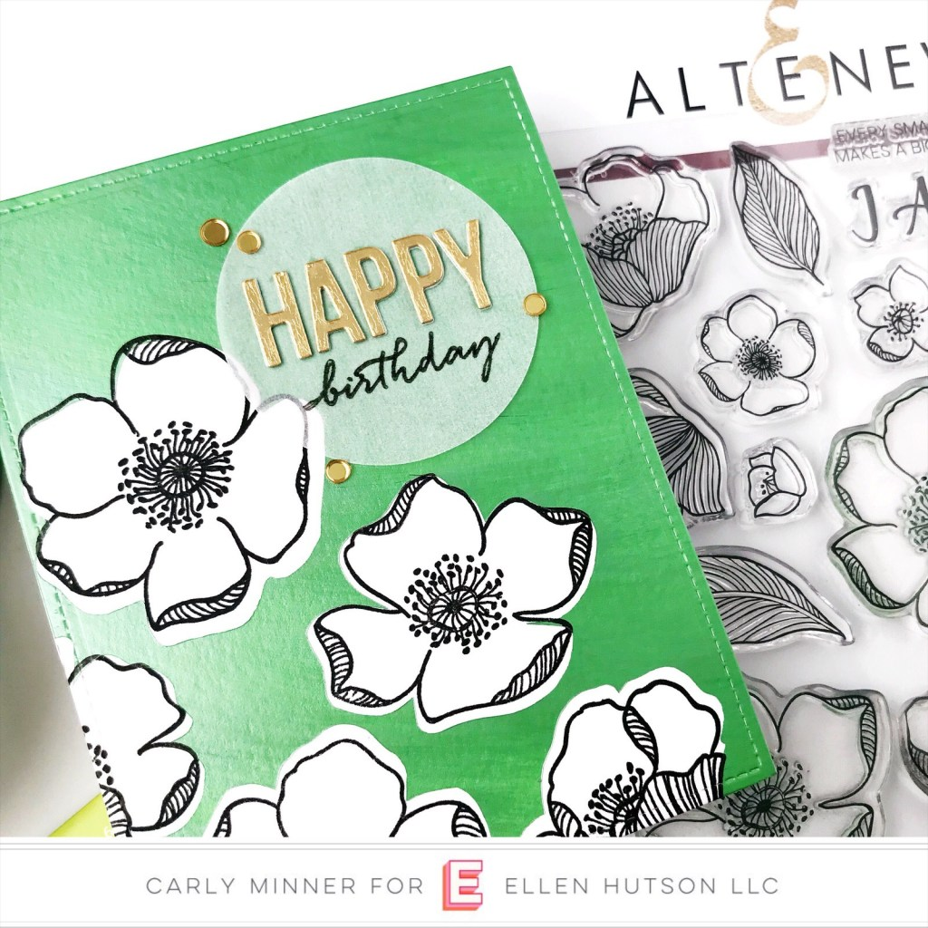Cards with Altenew and Nuvo Embellishment Mousse by Carly Tee Minner