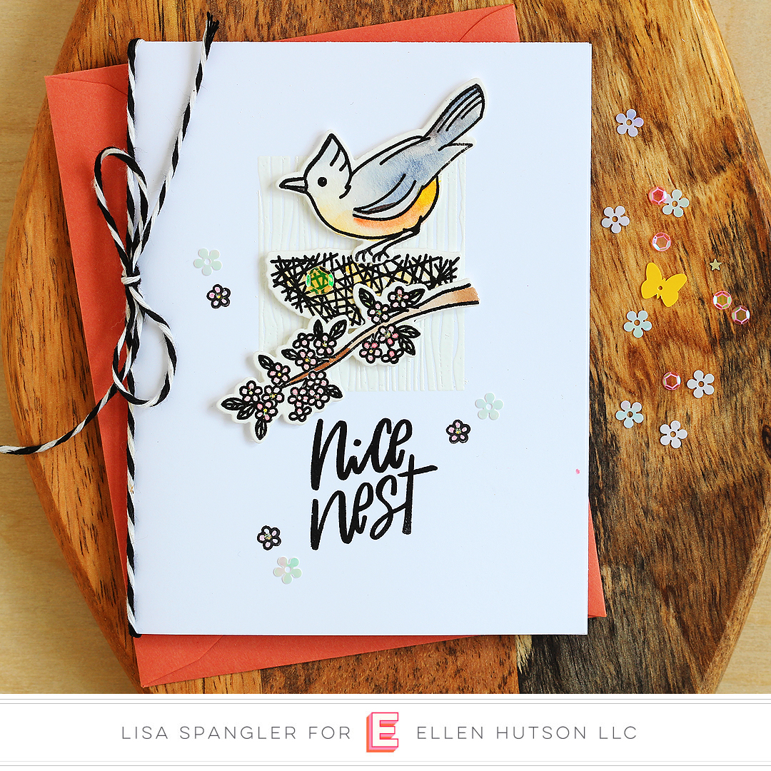 Essentials by Ellen Backyard Bird Friends card by Lisa Spangler