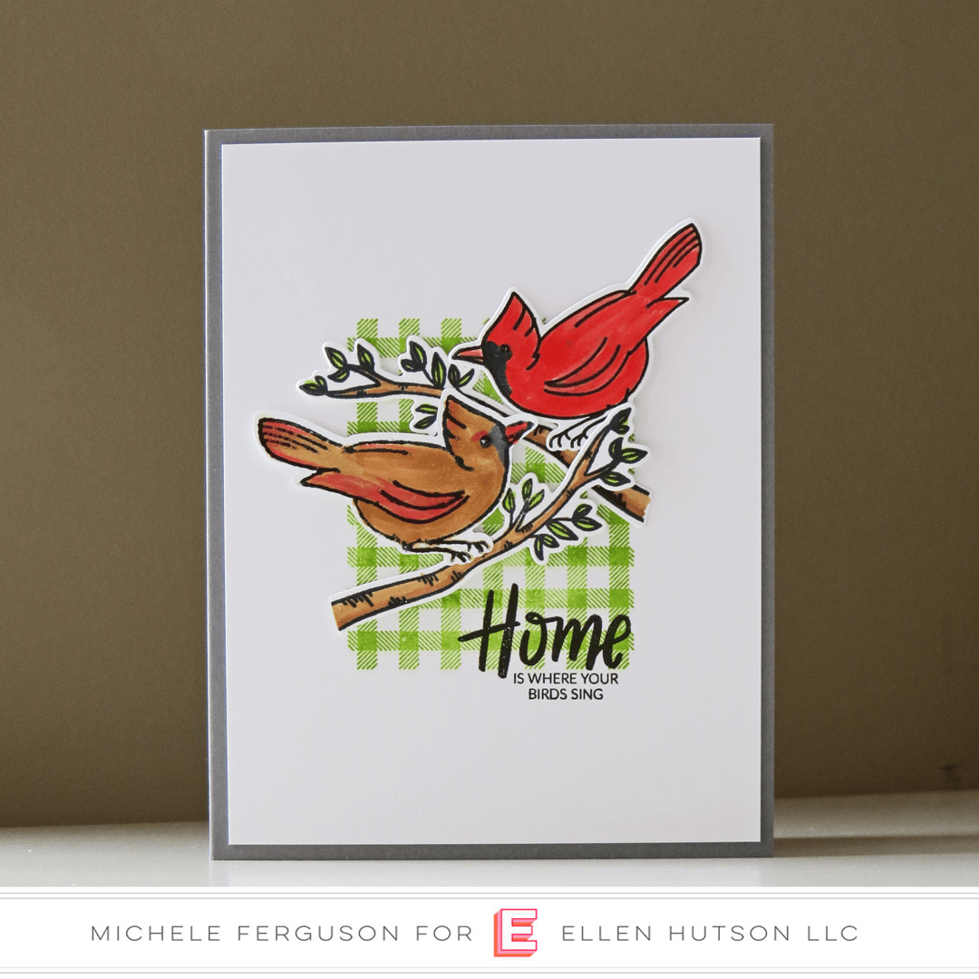 Essentials by Ellen Backyard Bird Friends card by Michele Ferguson