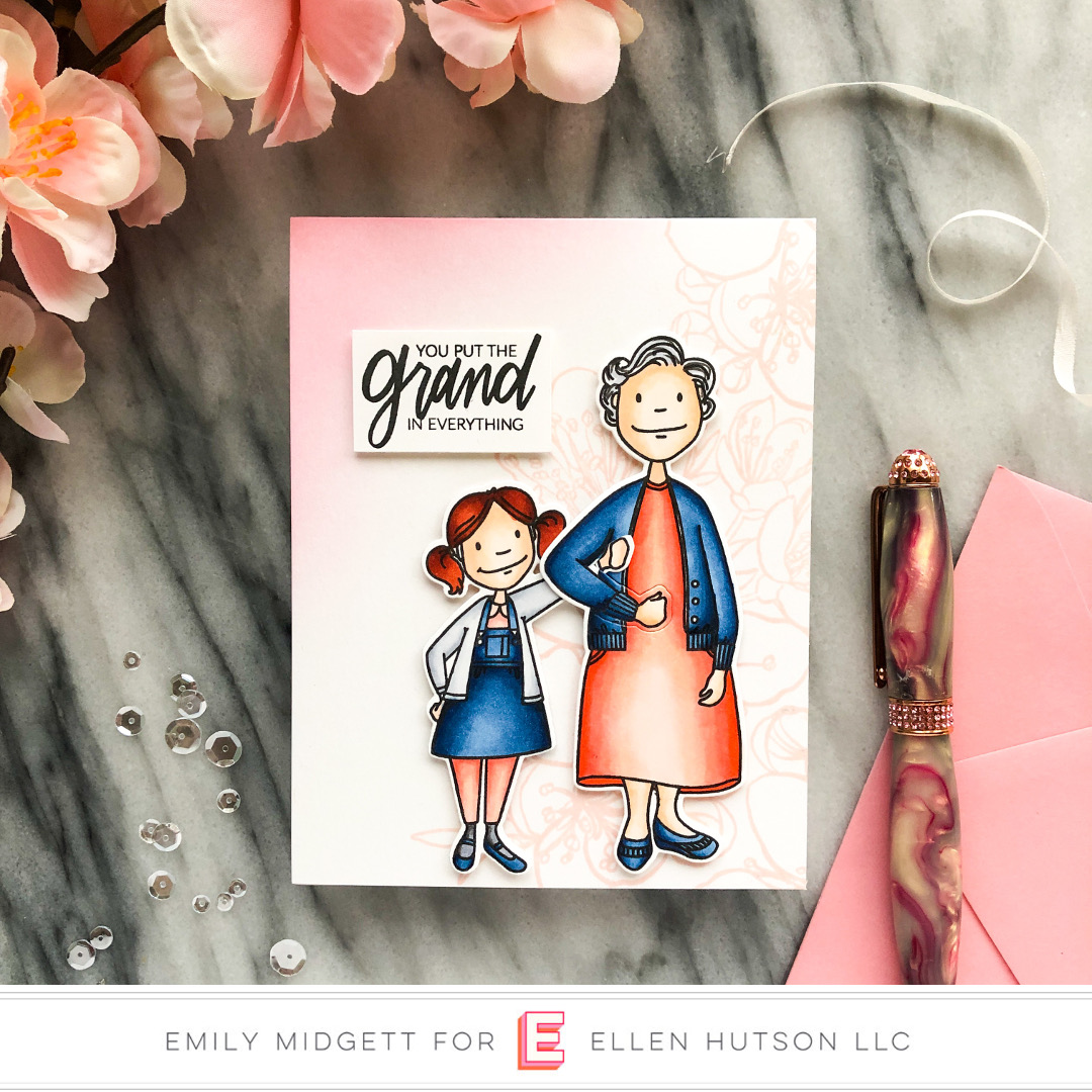 Essentials by Ellen Grand Lady card by Emily Midgett