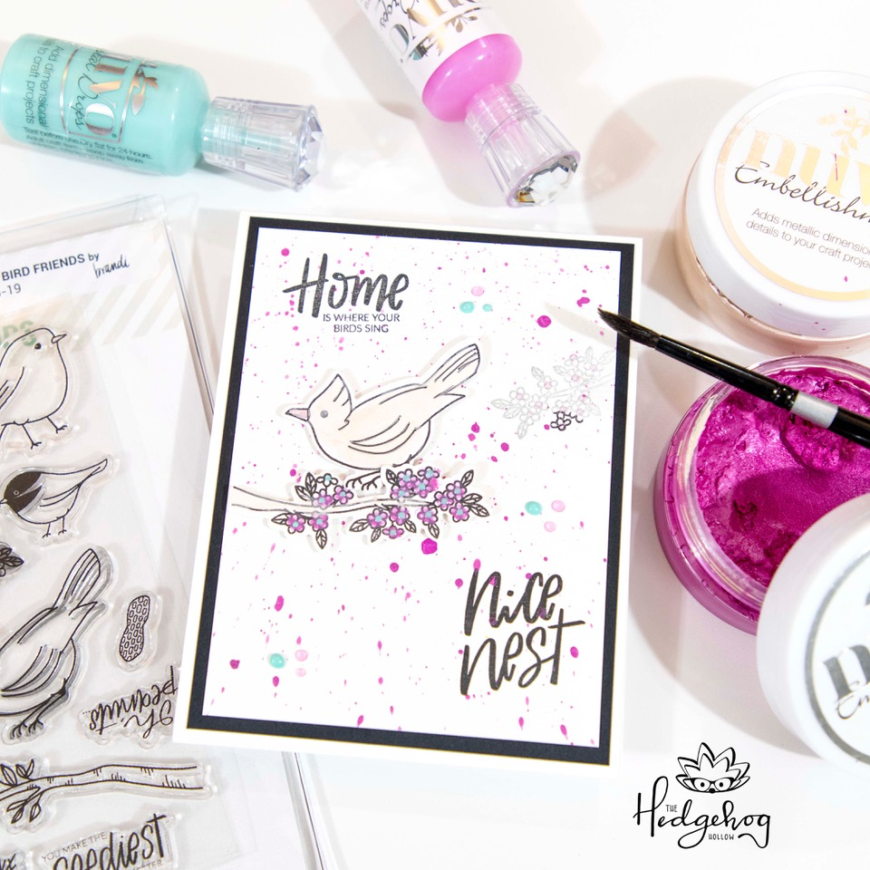 Nuvo Dream In Color card featuring Essentials by Ellen Backyard Bird Friends