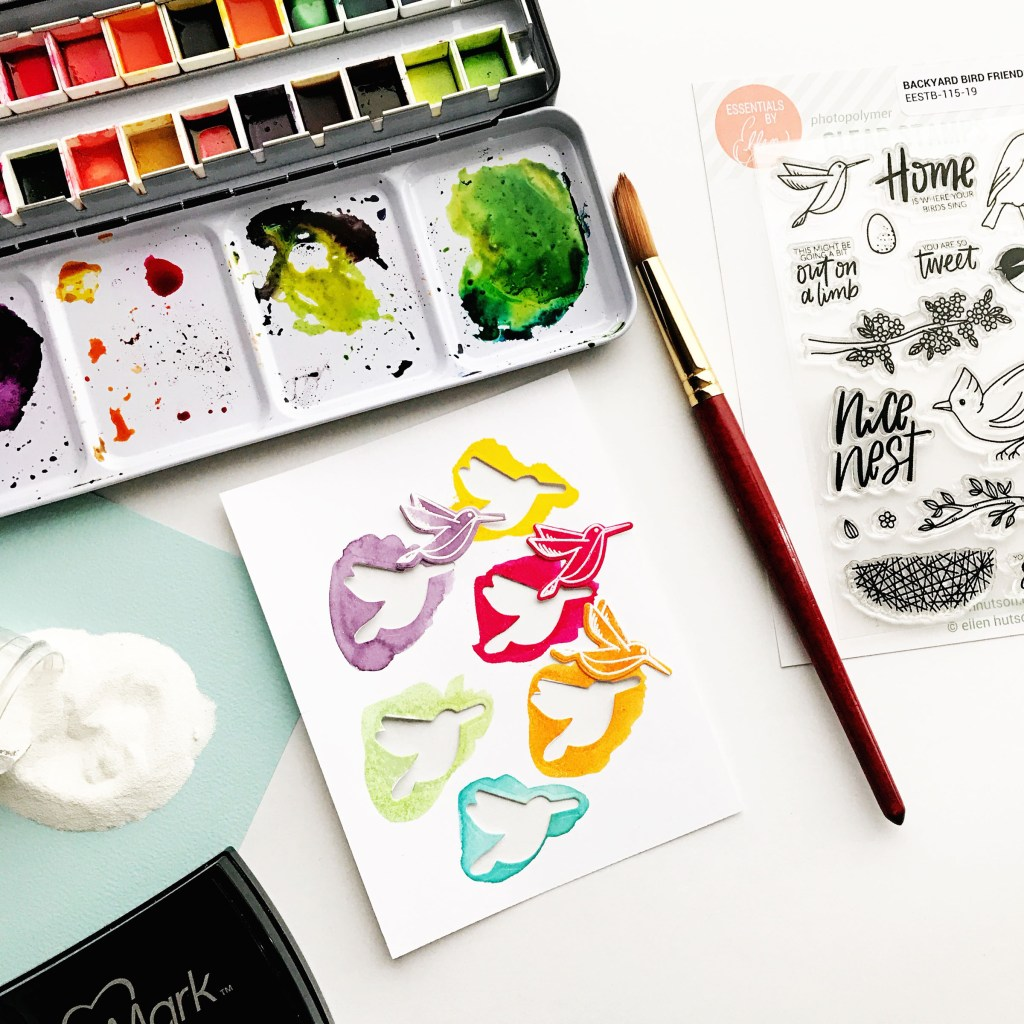 Watercoloring with Essentials by Ellen Backyard Bird Friends