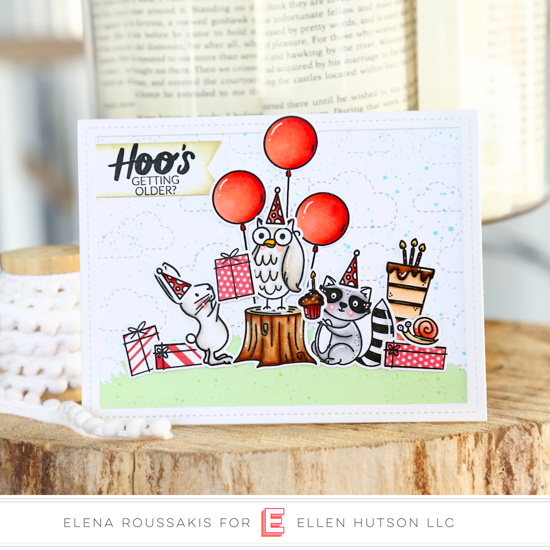 Essentials by Ellen Backyard Party card by Elena Roussakis
