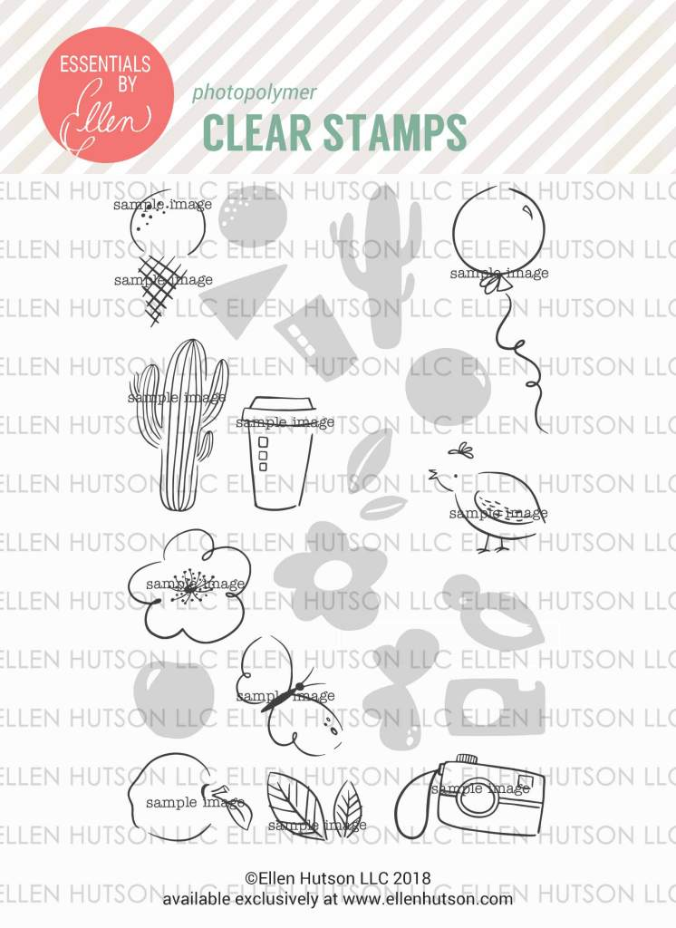 Essentials by Ellen Everyday Doodles stamp set