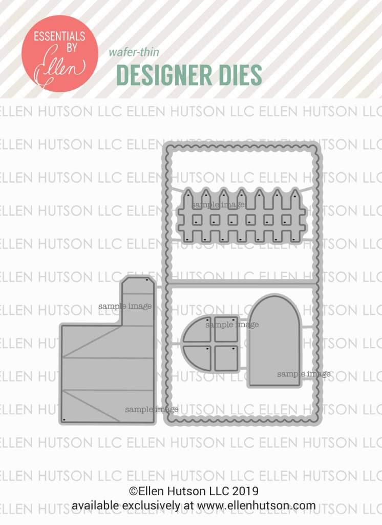 Essentials by Ellen House Box Add-On dies