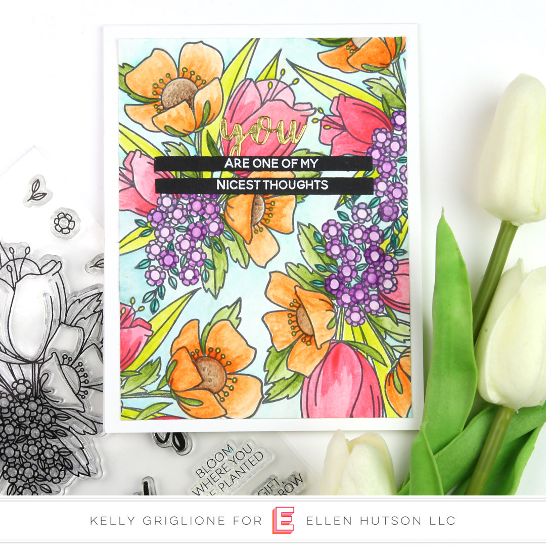 Essentials by Ellen Mondo Wildflowers card by Kelly Griglione