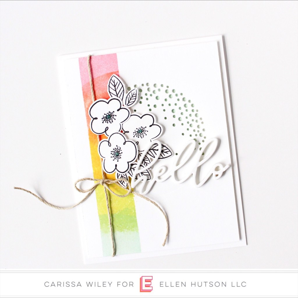 Essentials by Ellen Painted Stripes card by Carissa Wiley