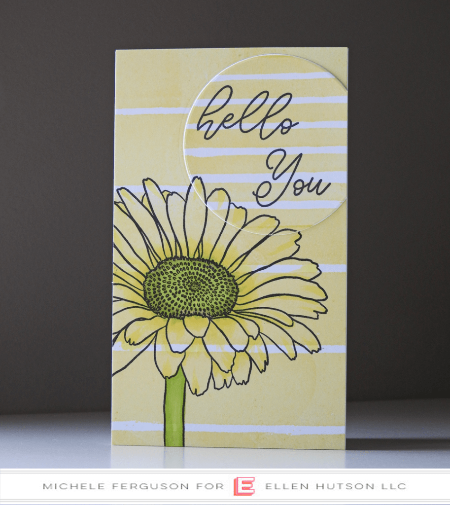 Essentials by Ellen Painted Stripes card by Michele Ferguson