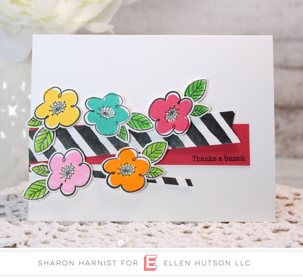 Essentials by Ellen Painted Striped card by Sharon Harnist