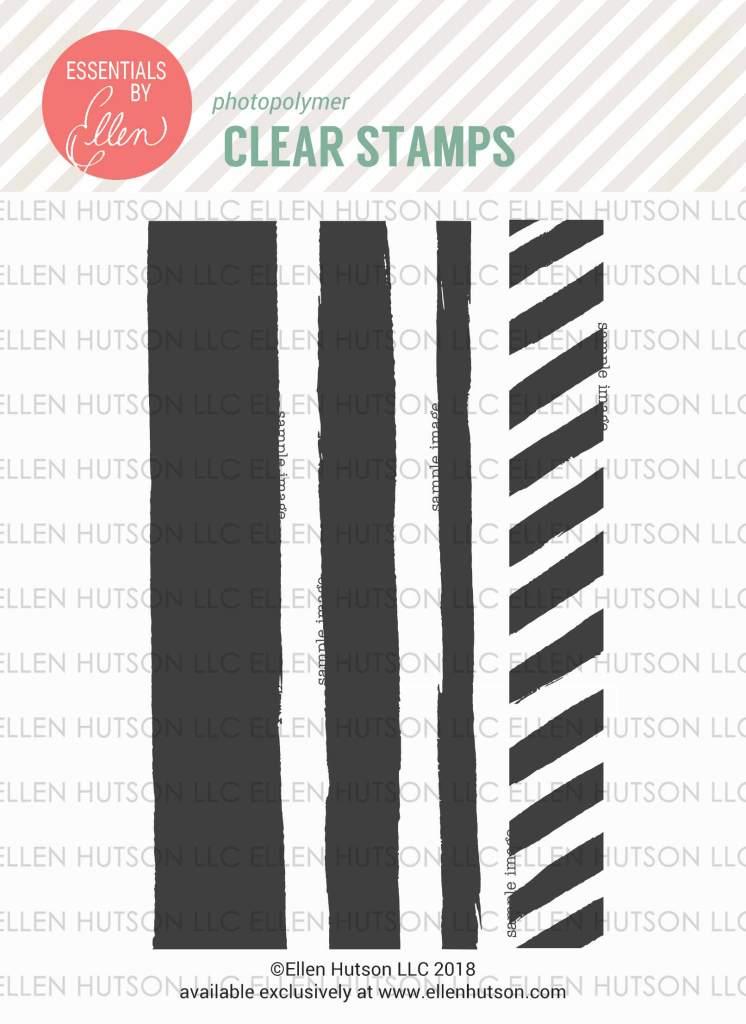 Essentials by Ellen Painted Stripes stamps