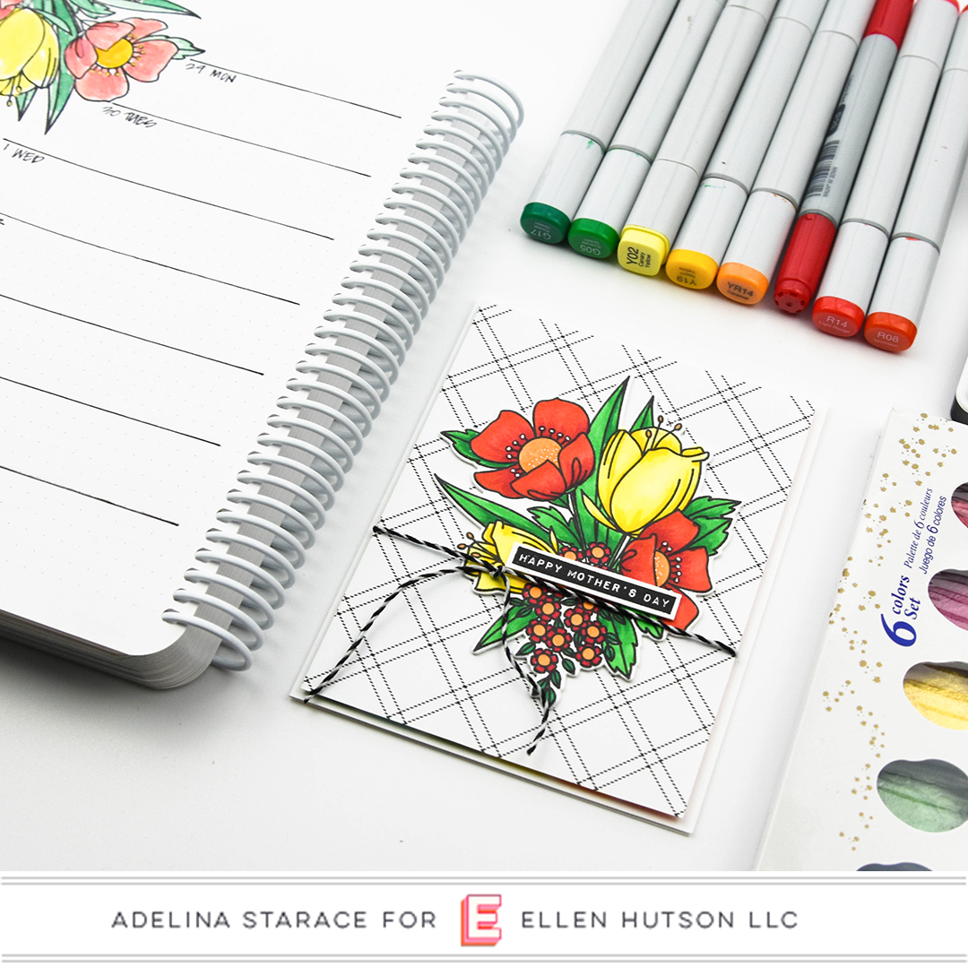 Stamping A Floral Border In Your Planner With Essentials By Ellen