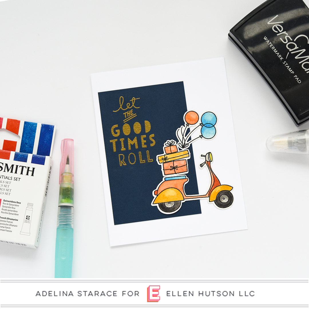 Essentials by Ellen Good Times card by Adelina Starace