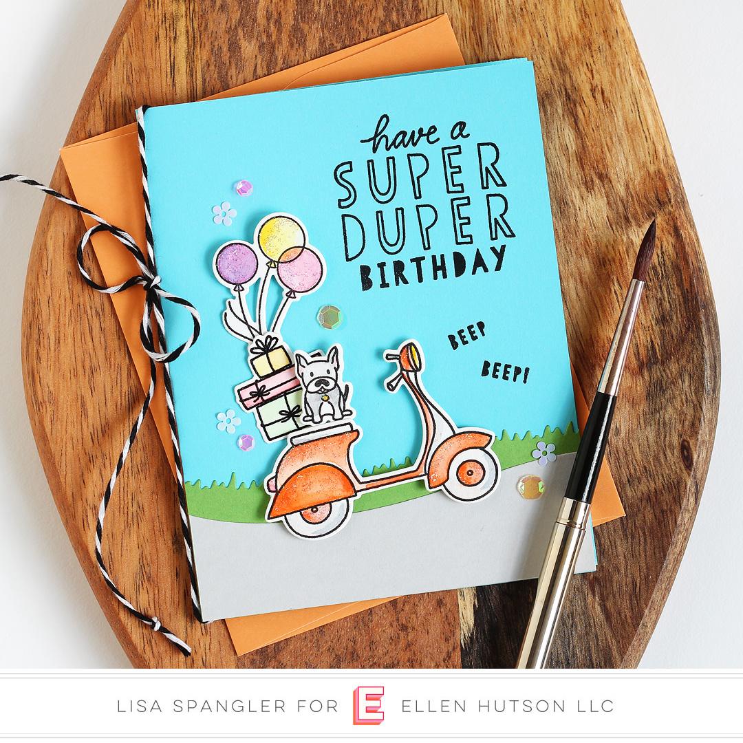 Essentials by Ellen Good Times card by Lisa Spangler