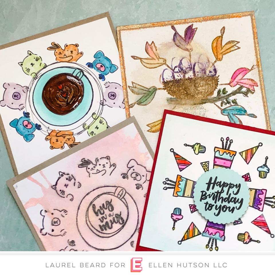 Wreath Builder Stamping with Gina K Designs & Essentials by Ellen