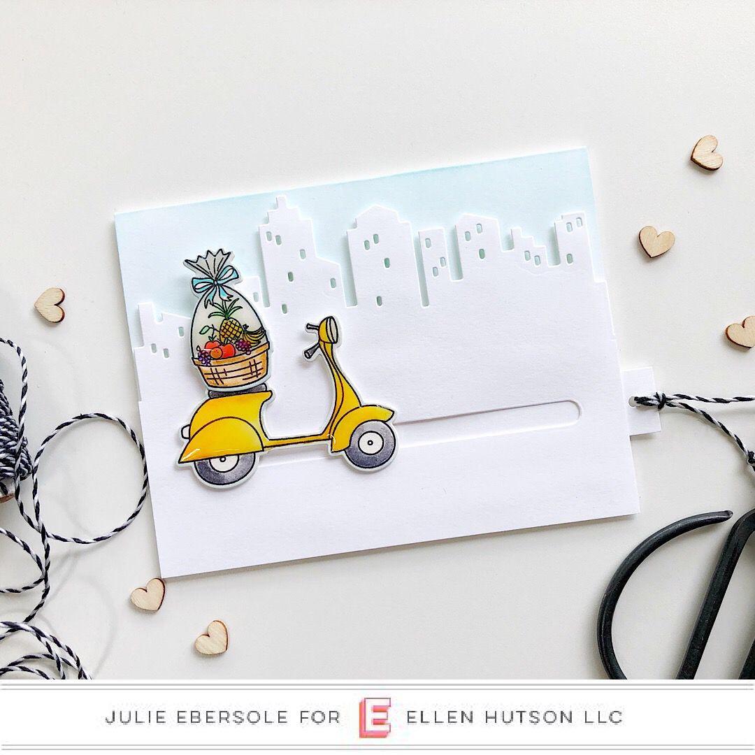 DIY Pull Tab Slider Card with Essentials by Ellen
