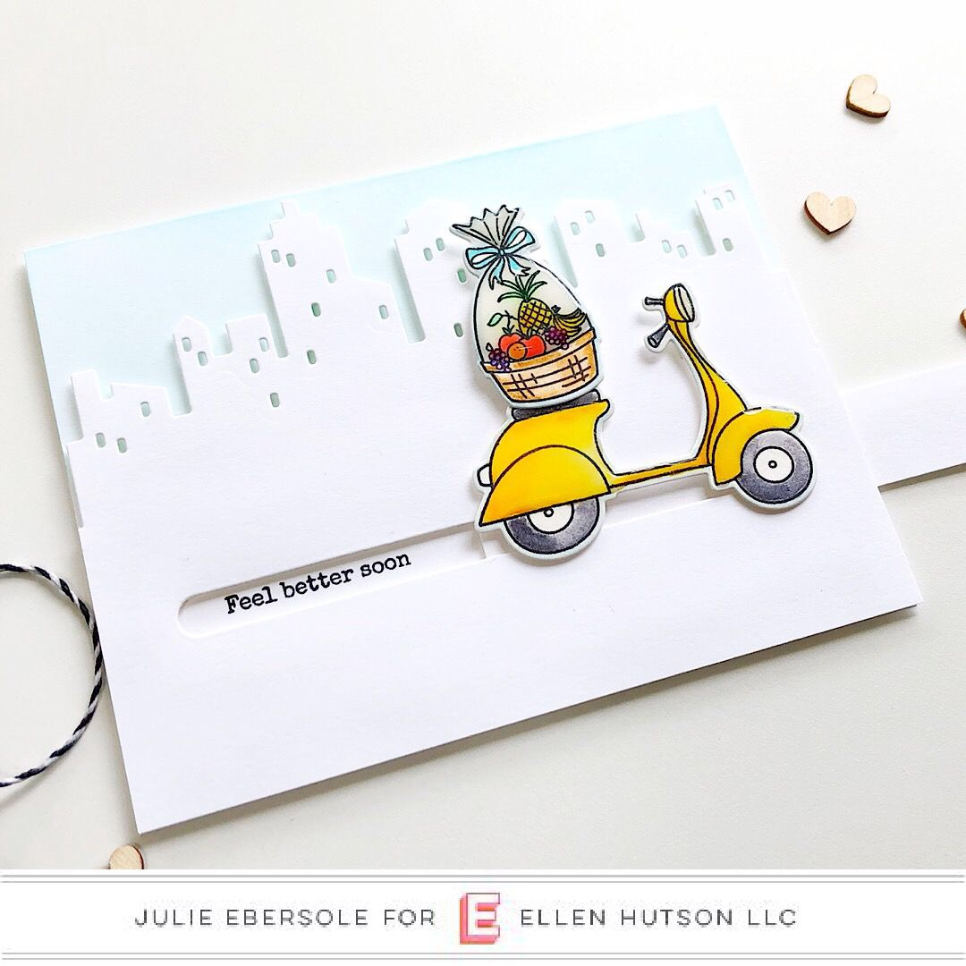 DIY Pull Tab Slider Card with Essentials by Ellen